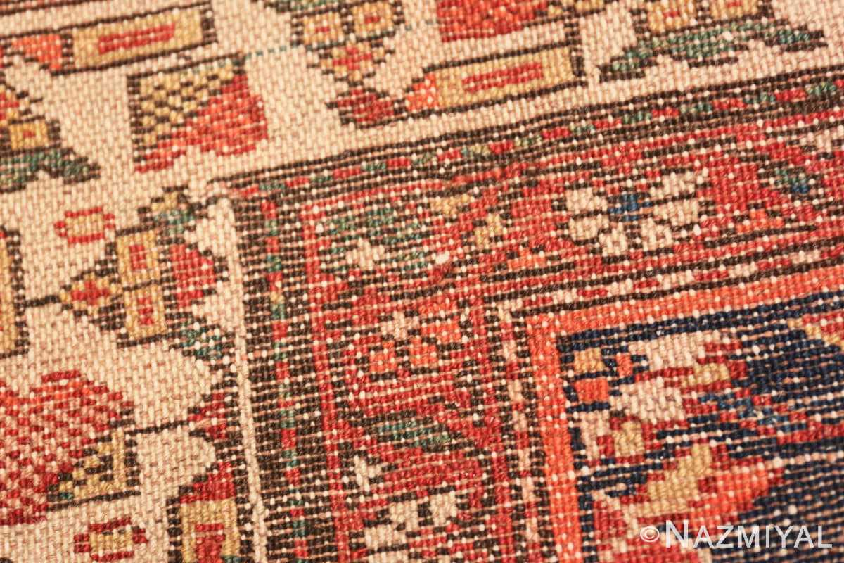 Weave detail Antique Persian Malayer rug 50159 by Nazmiyal