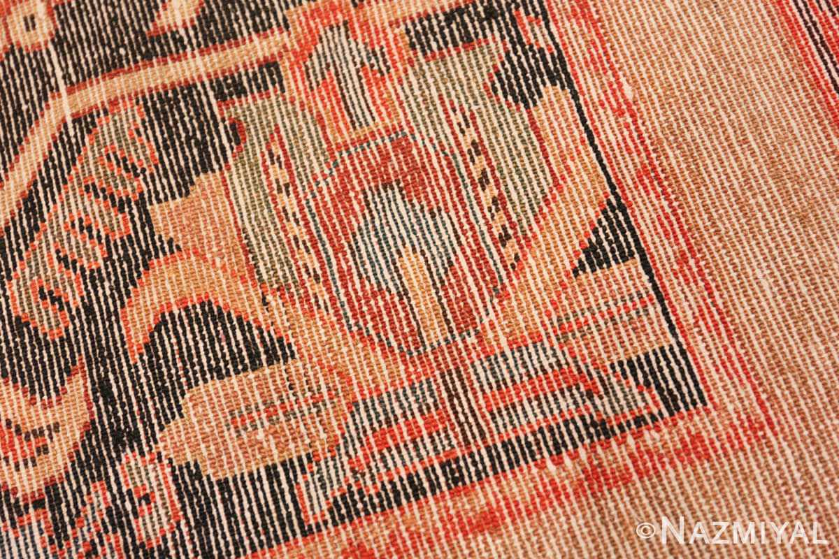Weave detail Antique Persian Serab rug 70133 by Nazmiyal