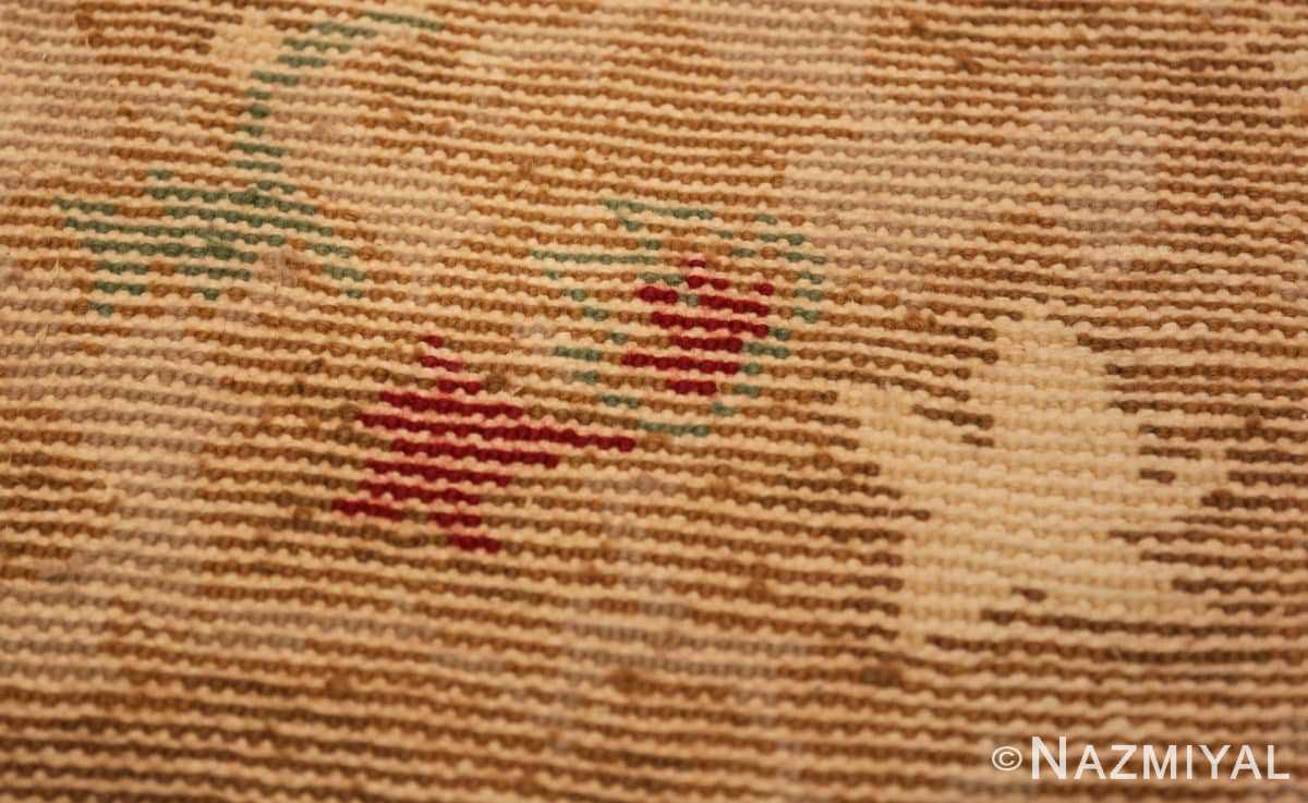 Weave detail Antique room size French Art Deco rug 70146 by Nazmiyal