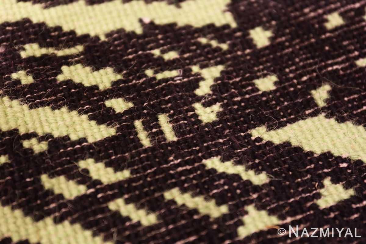 Weave detail Vintage Andy Warhol Flowers rug 70138 by Nazmiyal