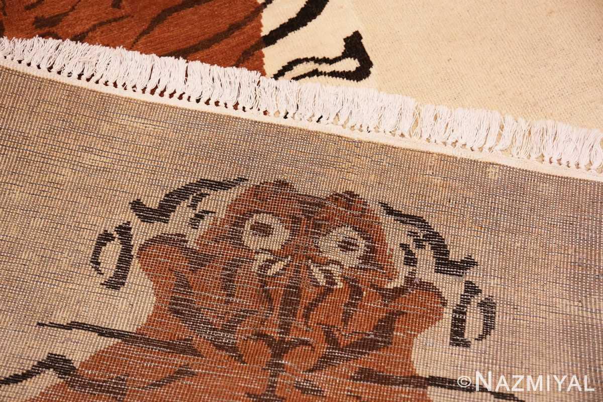Weave Vintage Indian tiger rug 70097 by Nazmiyal