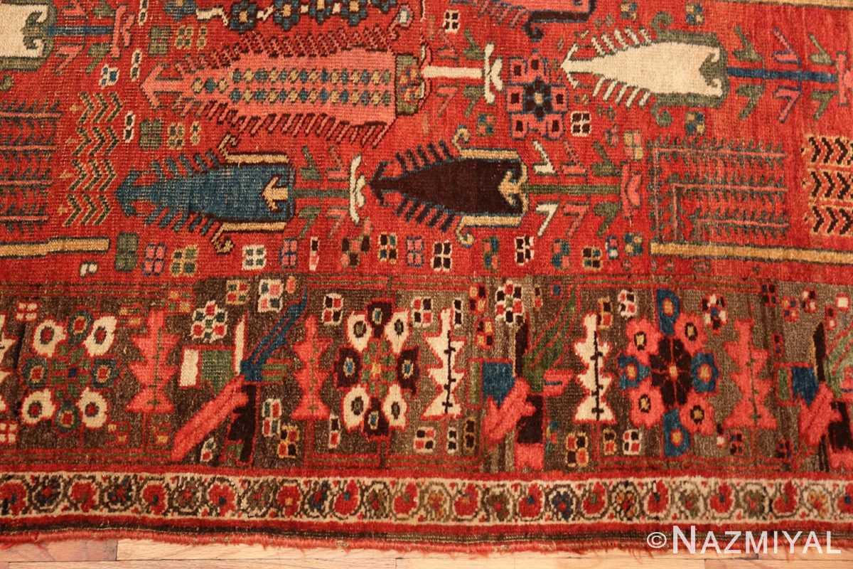 Border Small Antique Persian Bidjar rug 70155 by Nazmiyal