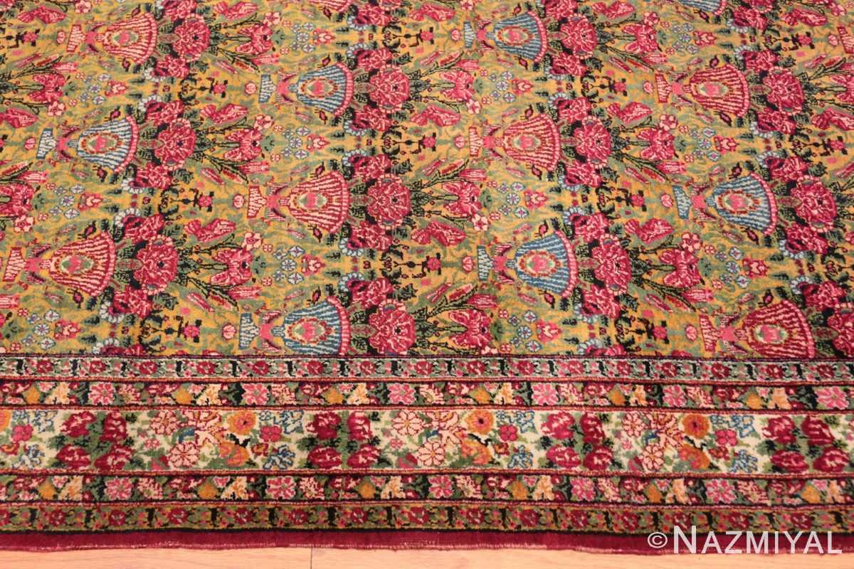 Border Antique Persian Kerman rug 70166 by Nazmiyal