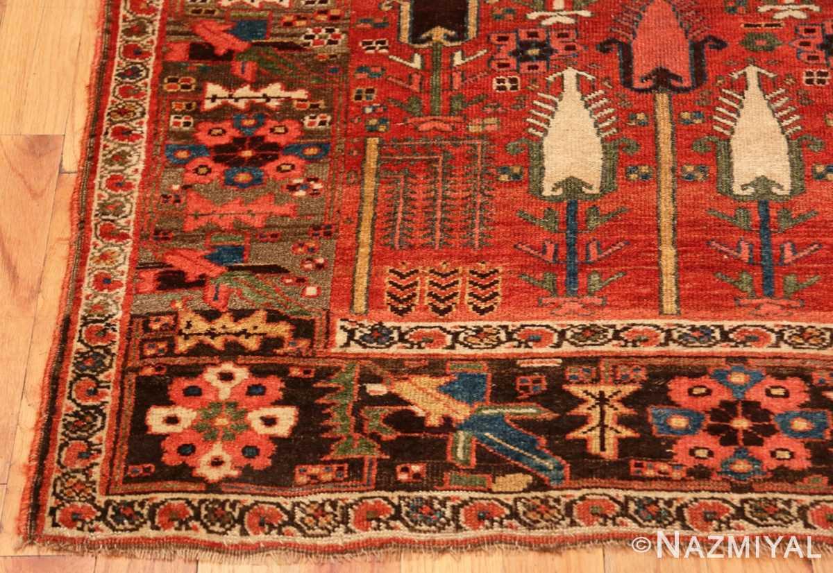 Corner Small Antique Persian Bidjar rug 70155 by Nazmiyal