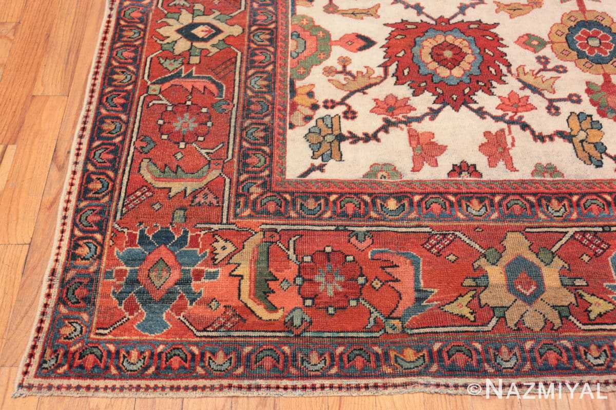 Corner Antique Persian Sultanabad rug 70137 by Nazmiyal