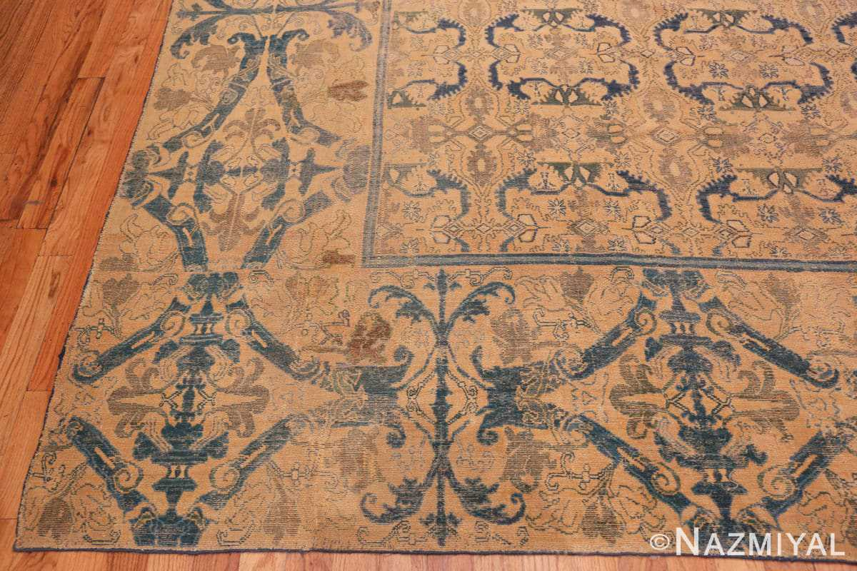 Corner Antique Spanish Alcaraz rug 70154 by Nazmiyal