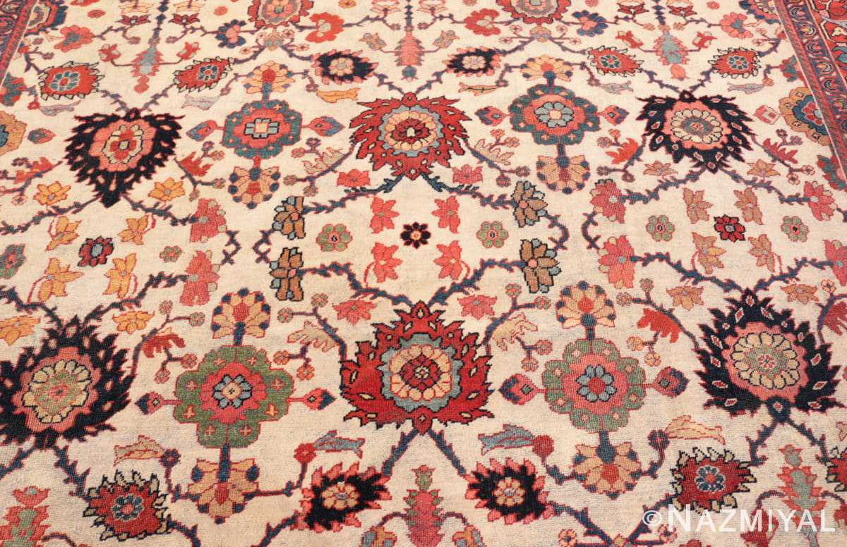 Field Antique Persian Sultanabad rug 70137 by Nazmiyal