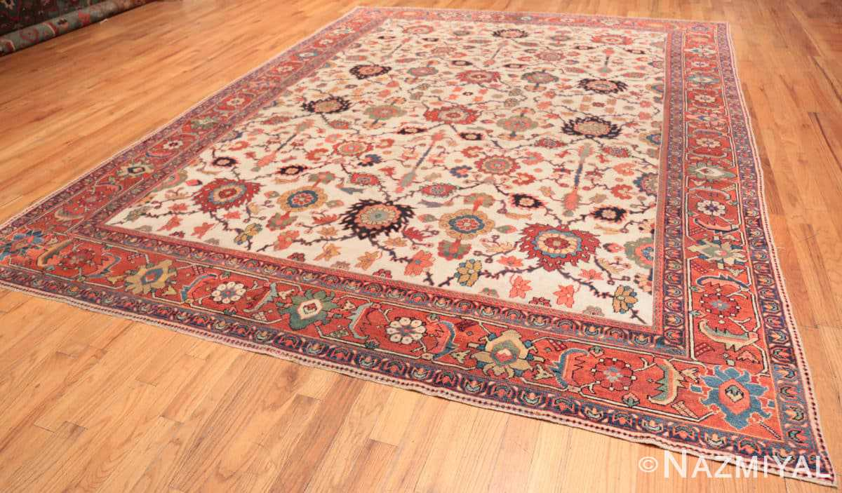 Full Antique Persian Sultanabad rug 70137 by Nazmiyal