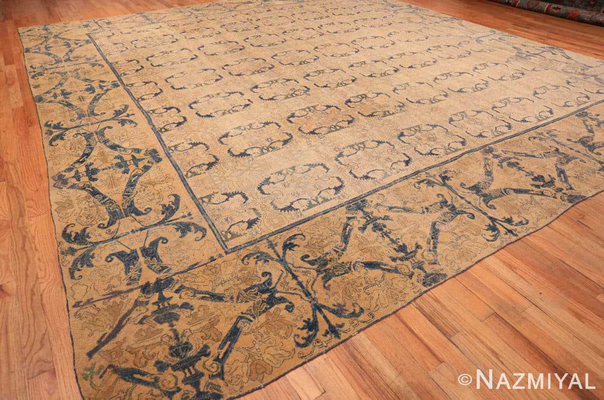 Full Antique Spanish Alcaraz rug 70154 by Nazmiyal