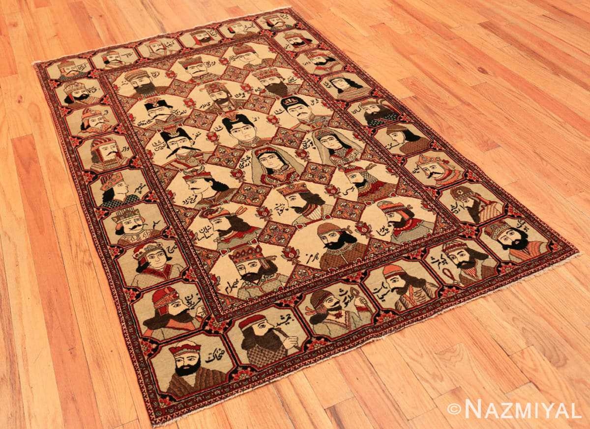 Full Antique Persian Kashan Mohtasham rug 70160 by Nazmiyal