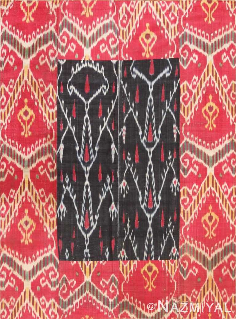 Full view Antique Silk Ikat Uzbek textile 70173 by Nazmiyal
