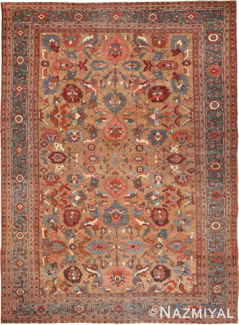Full view Antique Persian Bakshaish rug 70106 by Nazmiyal