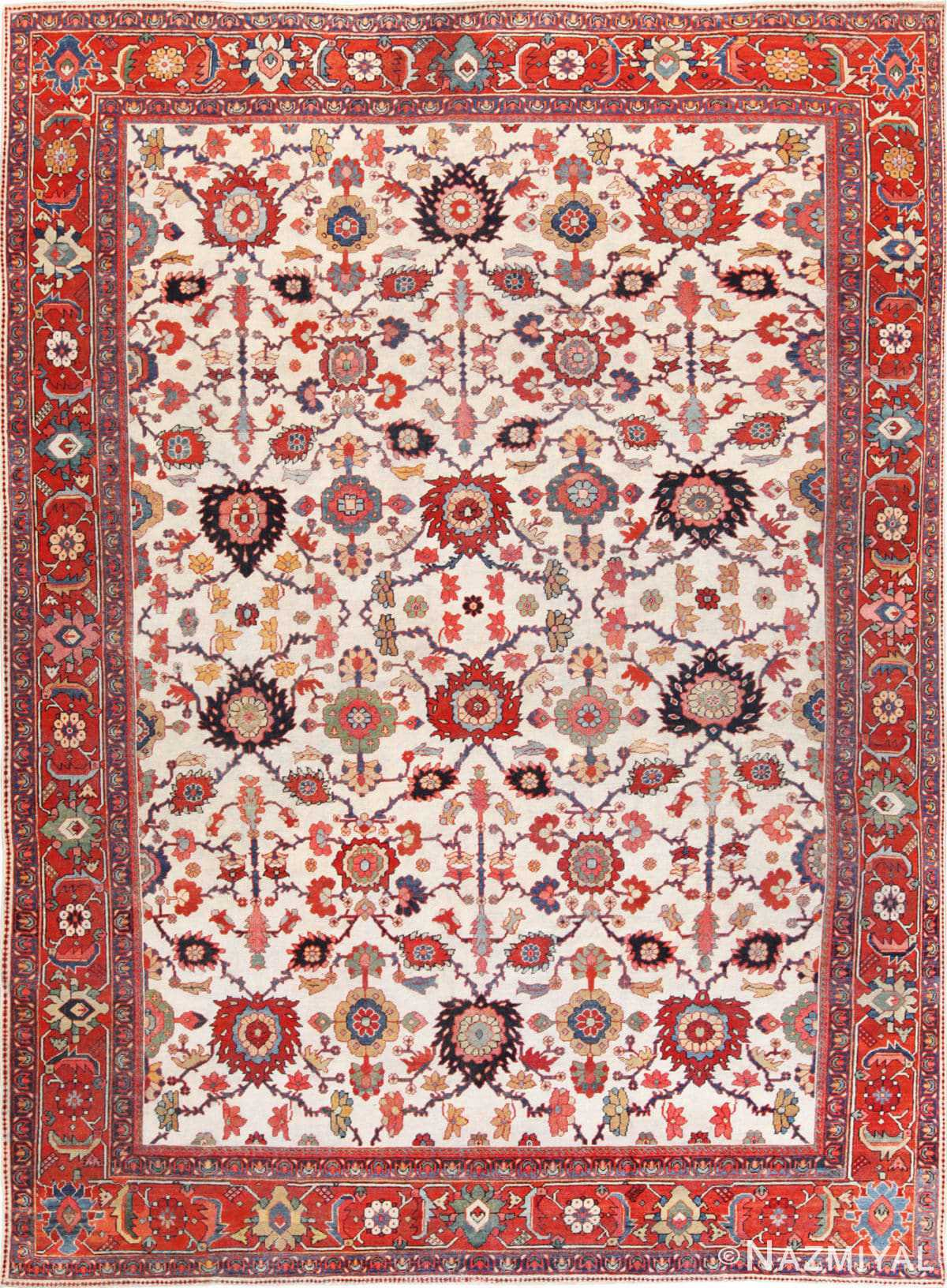 Full view Antique Persian Sultanabad rug 70137 by Nazmiyal