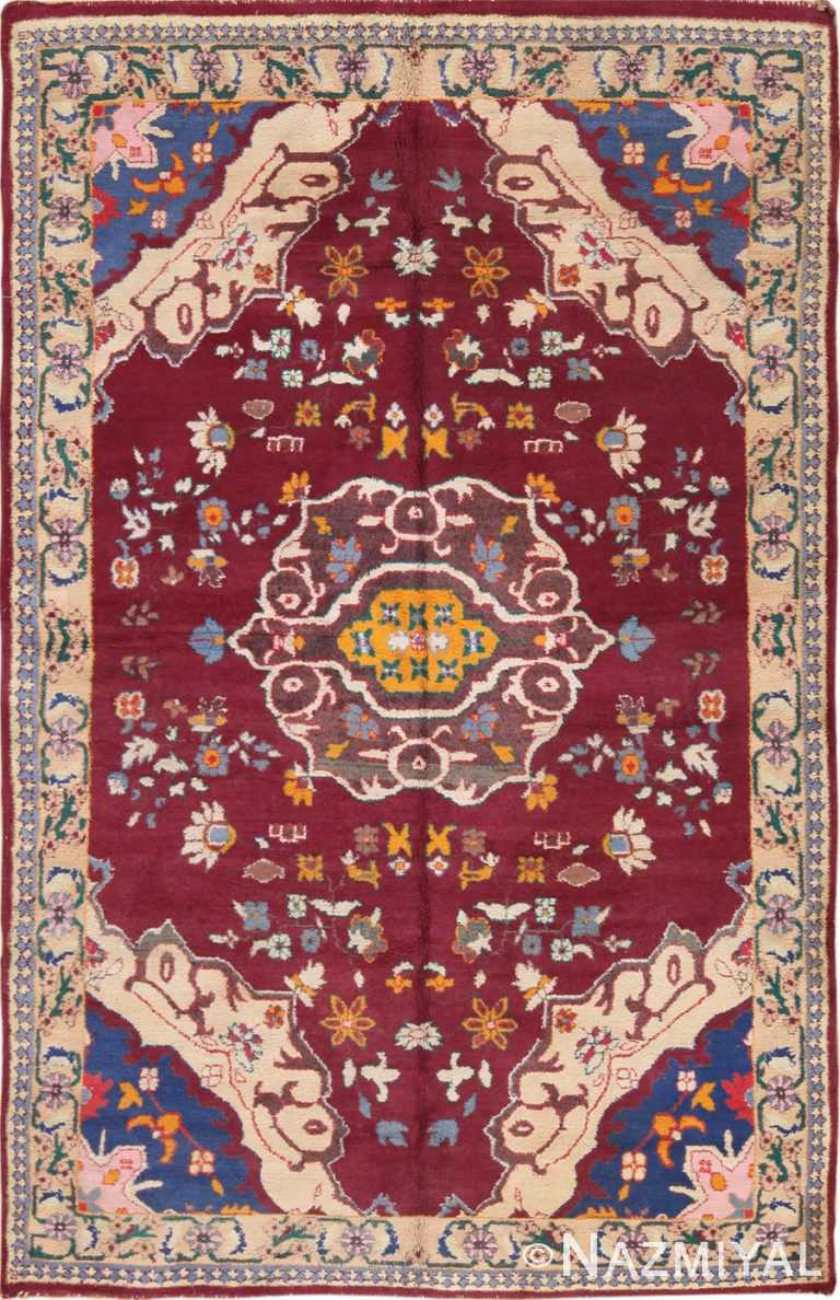 Full view Vintage Indian cotton Agra rug 70167 by Nazmiyal
