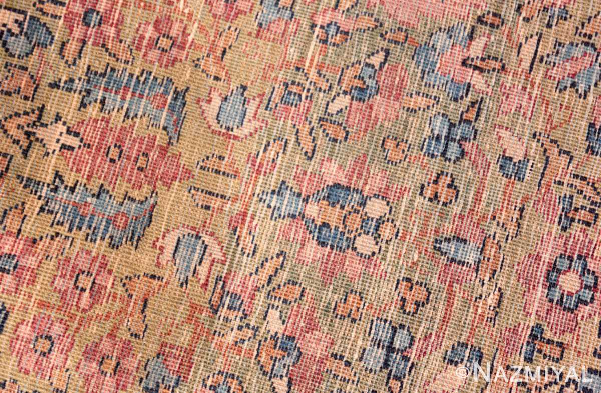 Weave detail Antique Kerman Persian rug 70165 by Nazmiyal