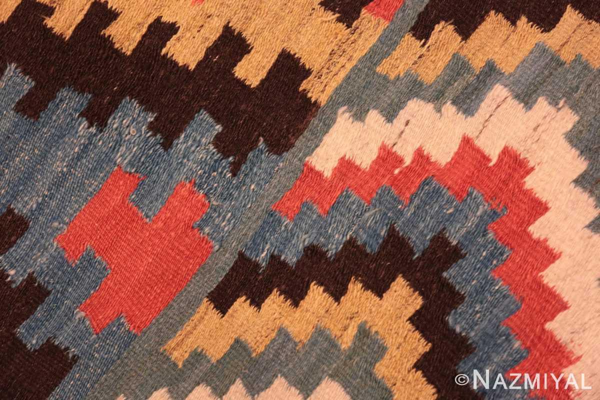 Weave detail Antique Macadonian rug 70172 by Nazmiyal