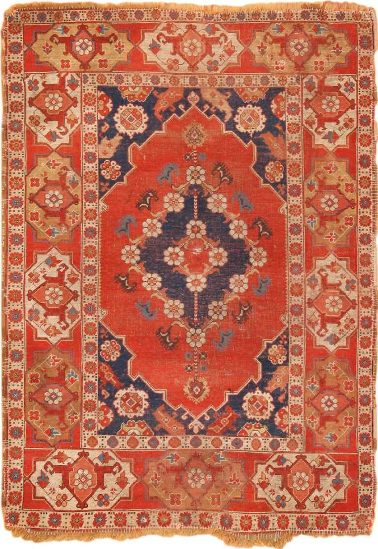 Full view 17th century antique Transylvanian rug 70169 by Nazmiyal antique rugs collection