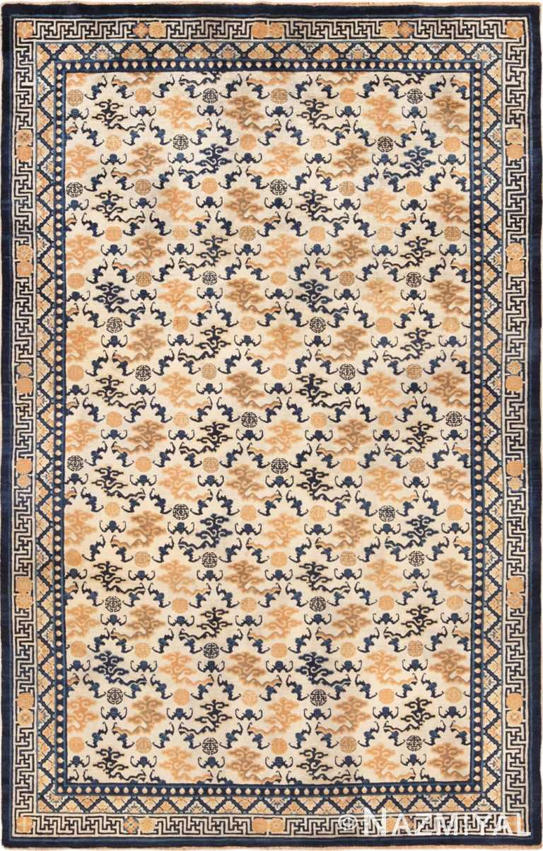 Full antique Chinese Ningxia rug 70213 by Nazmiyal