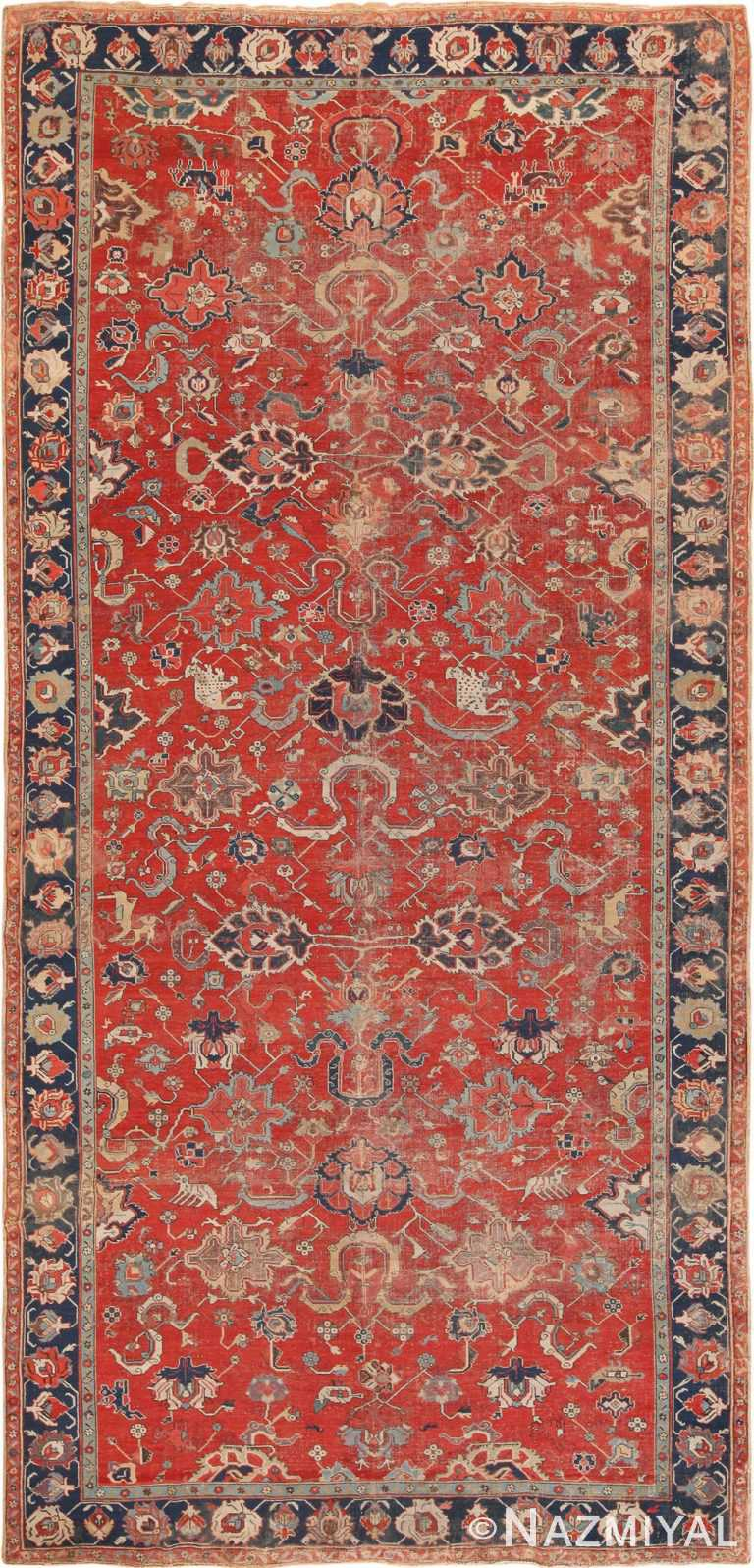 Full antique 17th century Northwest Persian Animal Rug 70215 by Nazmiyal