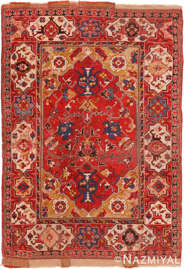Full view Antique 17th century Transylvanian Turkish rug 70178 by Nazmiyal