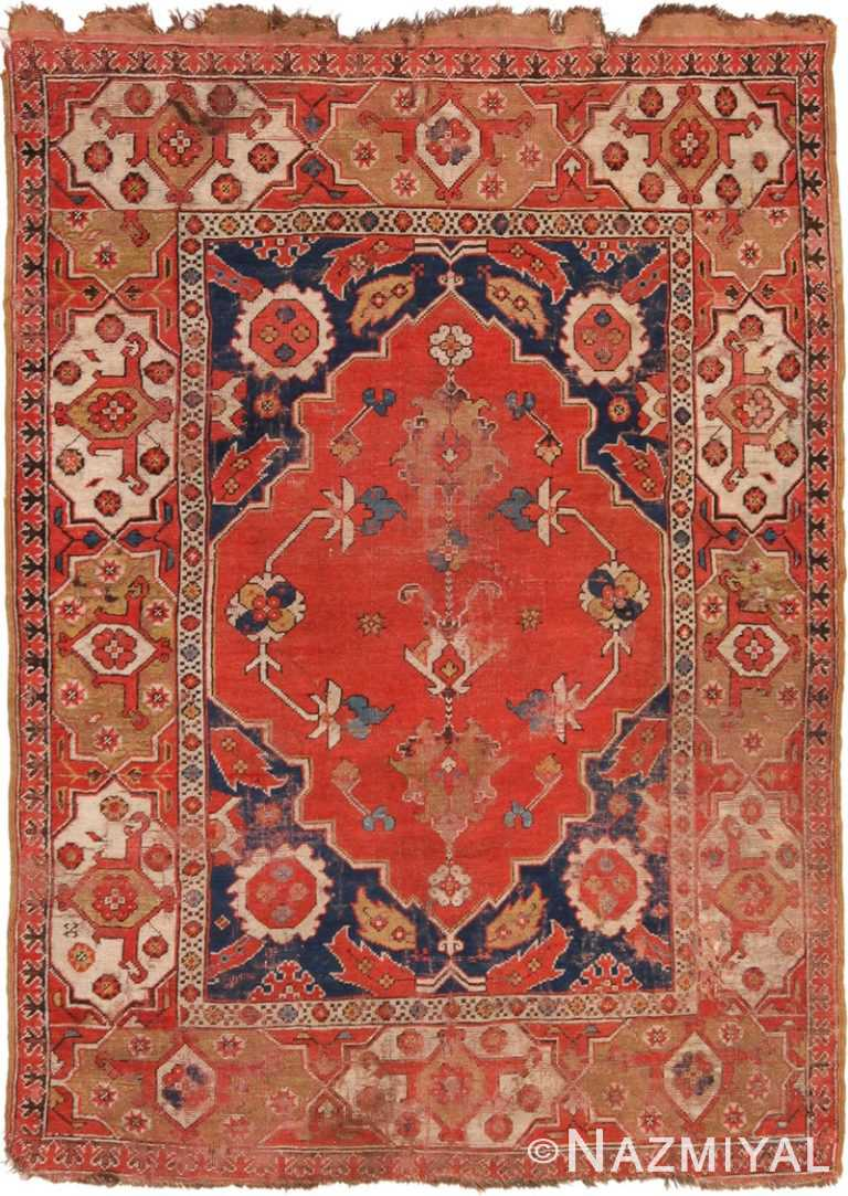 Full view Antique 17th century Transylvanian rug 70179 by Nazmiyal antique rugs collection