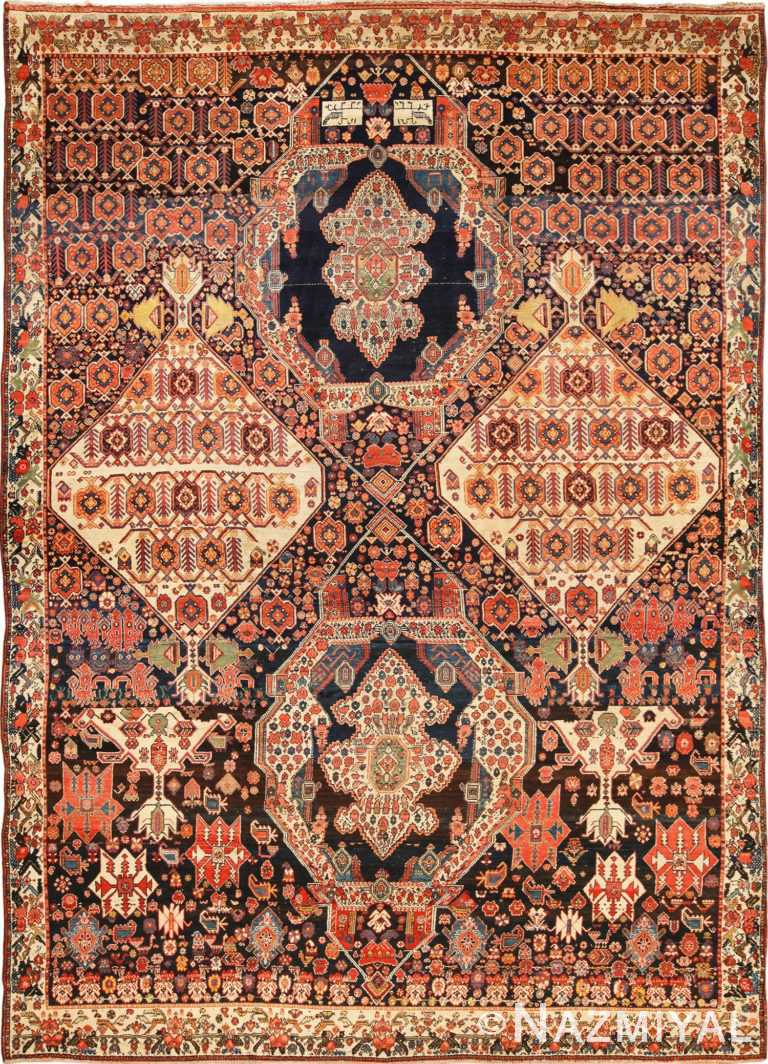 Full view Antique Bakhtiari rug 70233 by Nazmiyal antique rugs collection