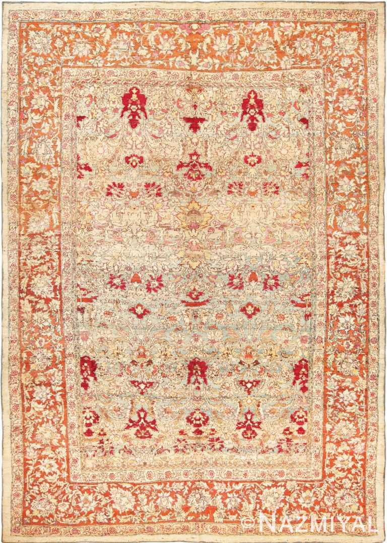 Full view antique Indian Agra rug 70181 by Nazmiyal
