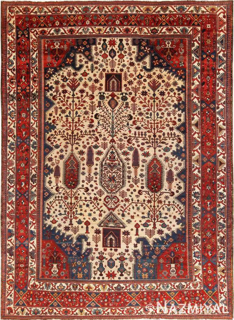 Full view Antique Persian Bakhtiari rug 70237 by Nazmiyal