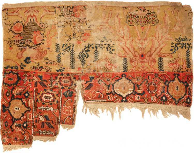 Full view antique Persian Senneh Vagireh sampler rug 1672 by Nazmiyal