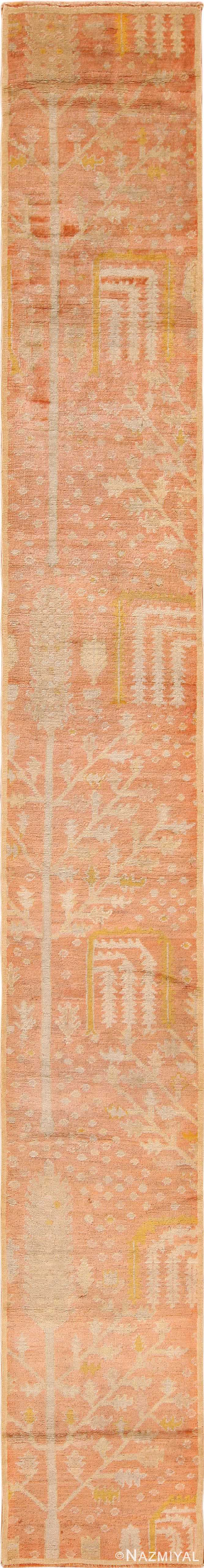 Full view antique Turkish Oushak runner rug 70223 by Nazmiyal
