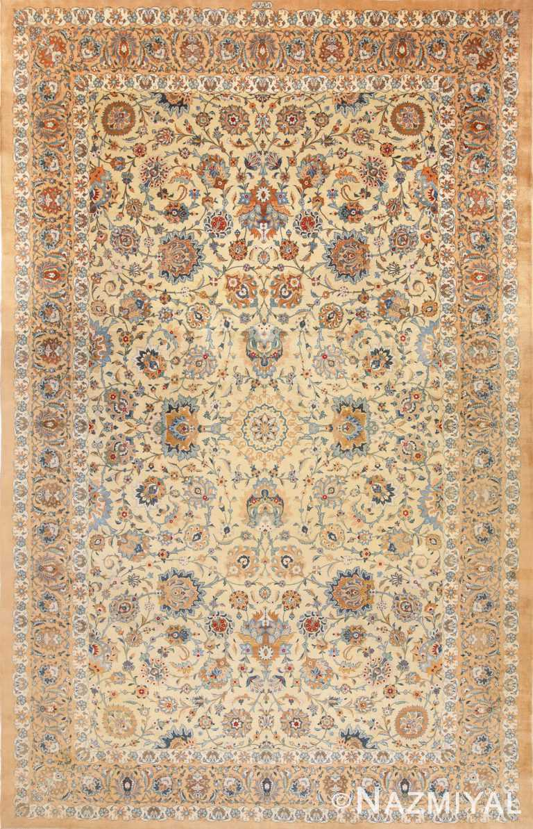 Full view Vintage Persian Kashan Rug 70232 by Nazmiyal