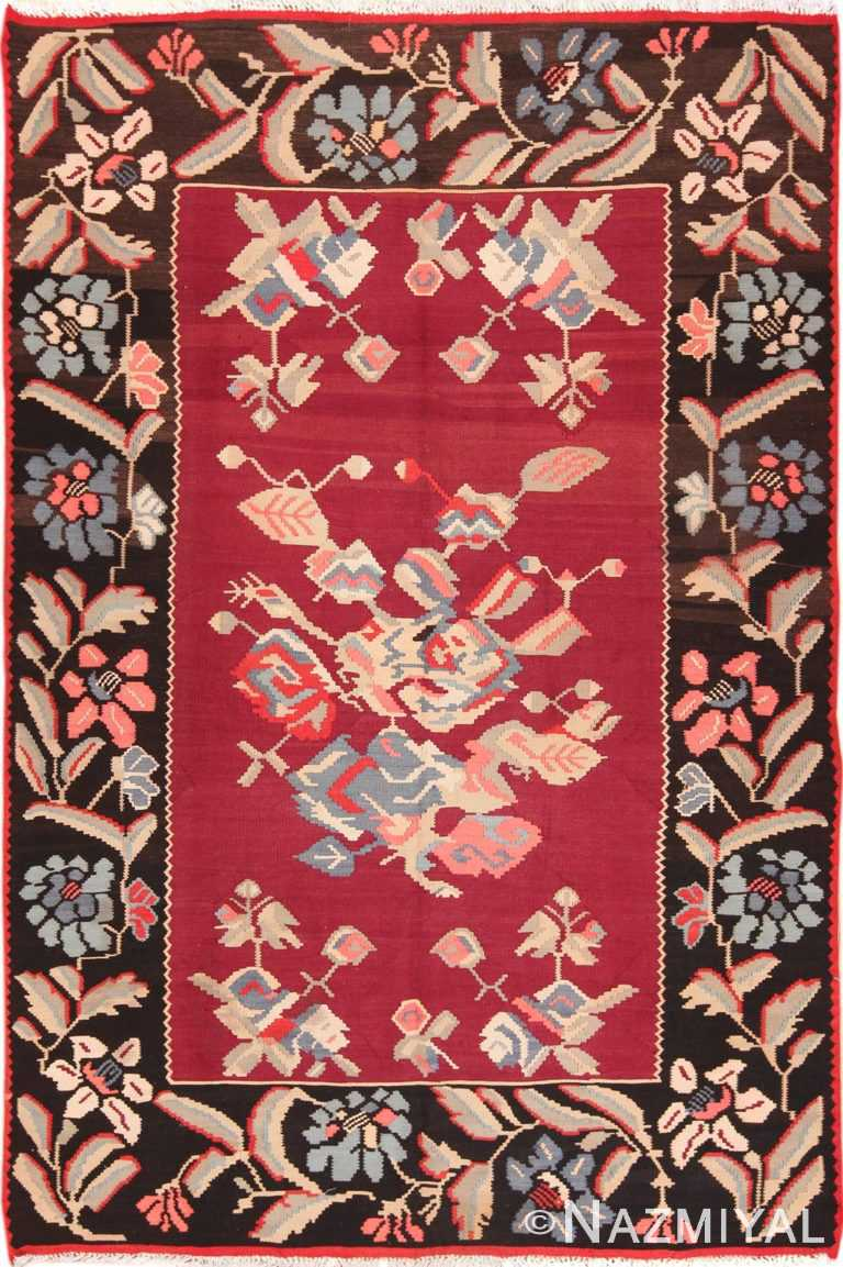 Full view Vintage Turkish Kilim rug 50540 by Nazmiyal
