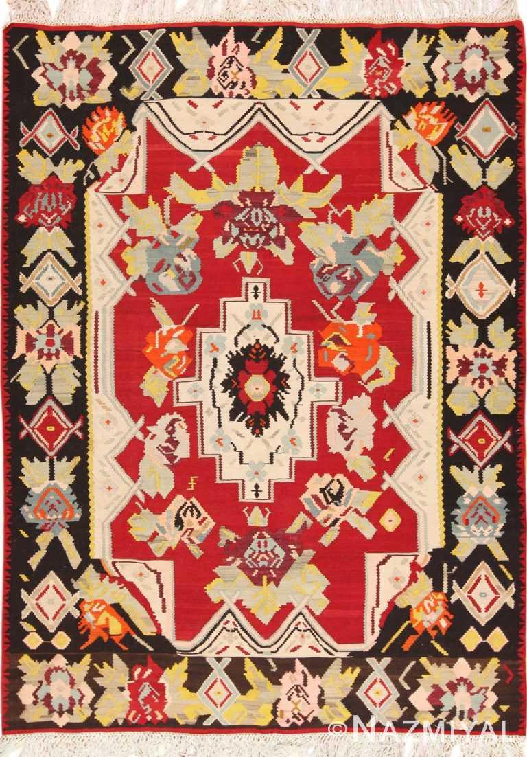 Full Vintage Turkish Kilim rug 50541 by Nazmiyal