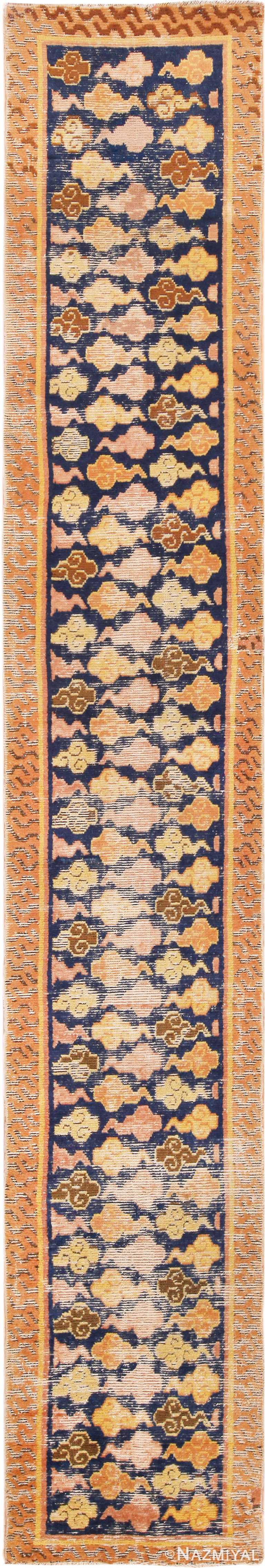 Rare and Collectible Antique 17th Century Chinese Ningxia Runner Rug #70214 from Nazmiyal Antique Rugs in NYC
