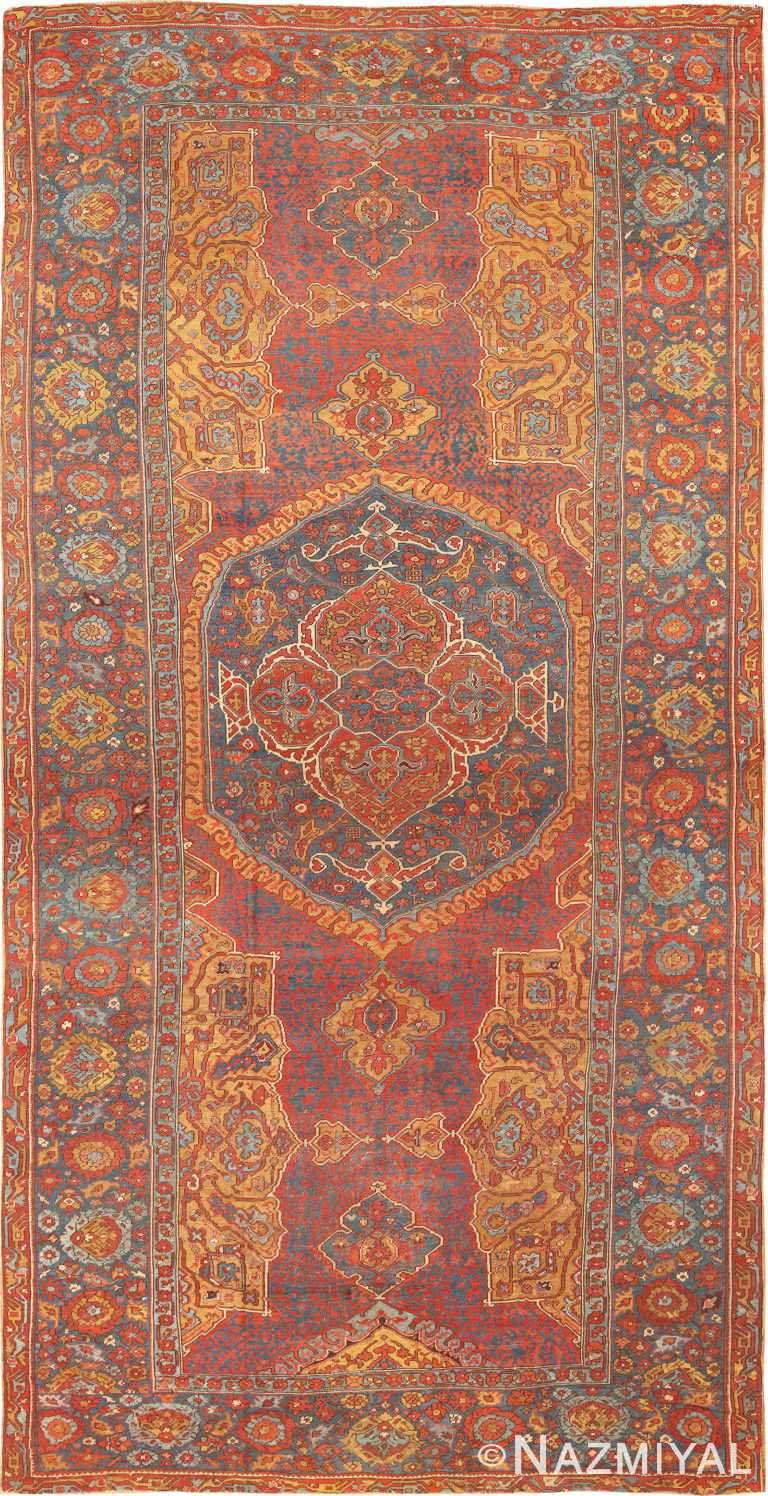 Antique 17th Century Turkish Smyrna Rug 70267 from Nazmiyal Antique Rugs in NYC