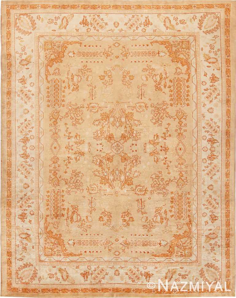 Decorative Antique Turkish Oushak Rug 70260 from Nazmiyal Antique Rugs in NYC