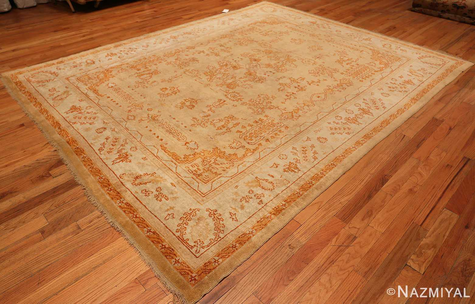 Decorative Antique Turkish Oushak Rug 70260 Nazmiyal Rugs