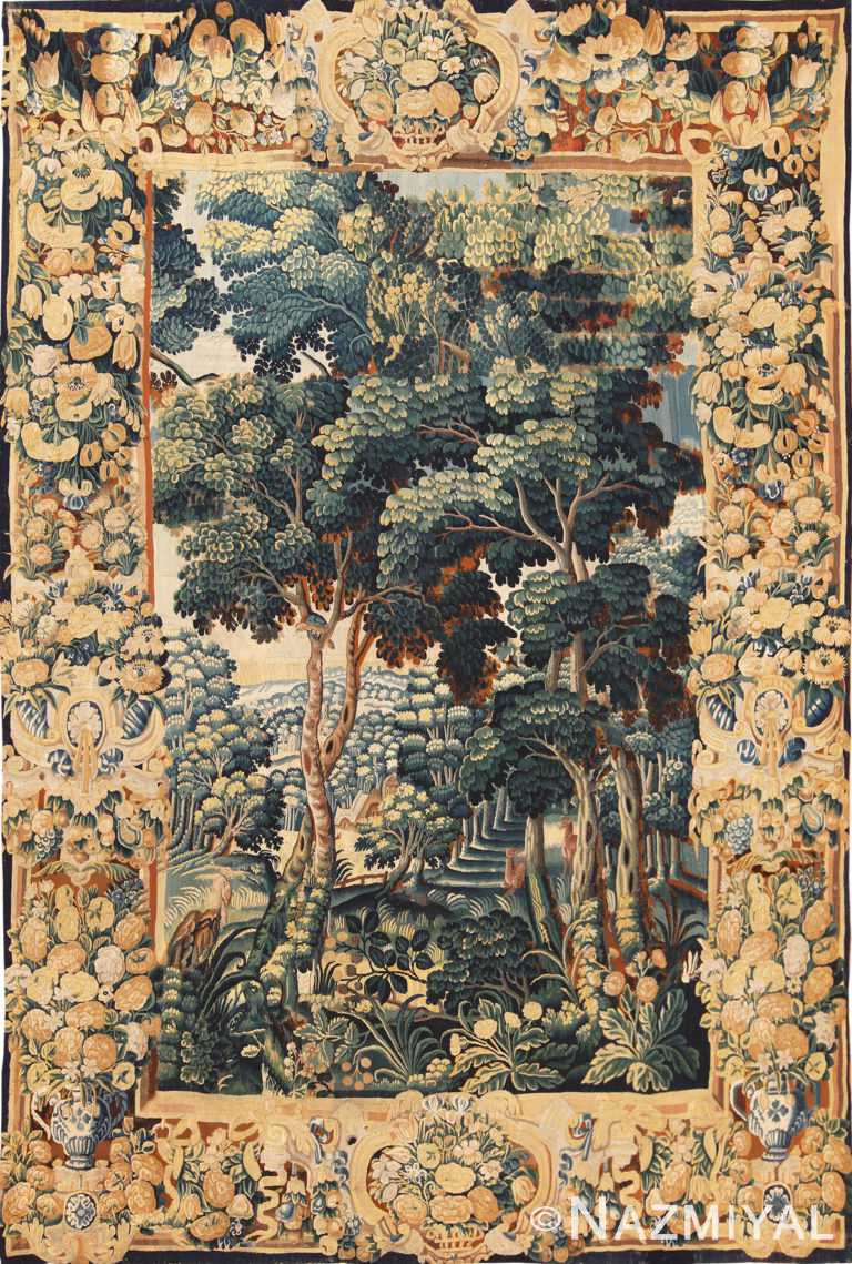 Full view antique French 18th Century tapestry 70241 Nazmiyal