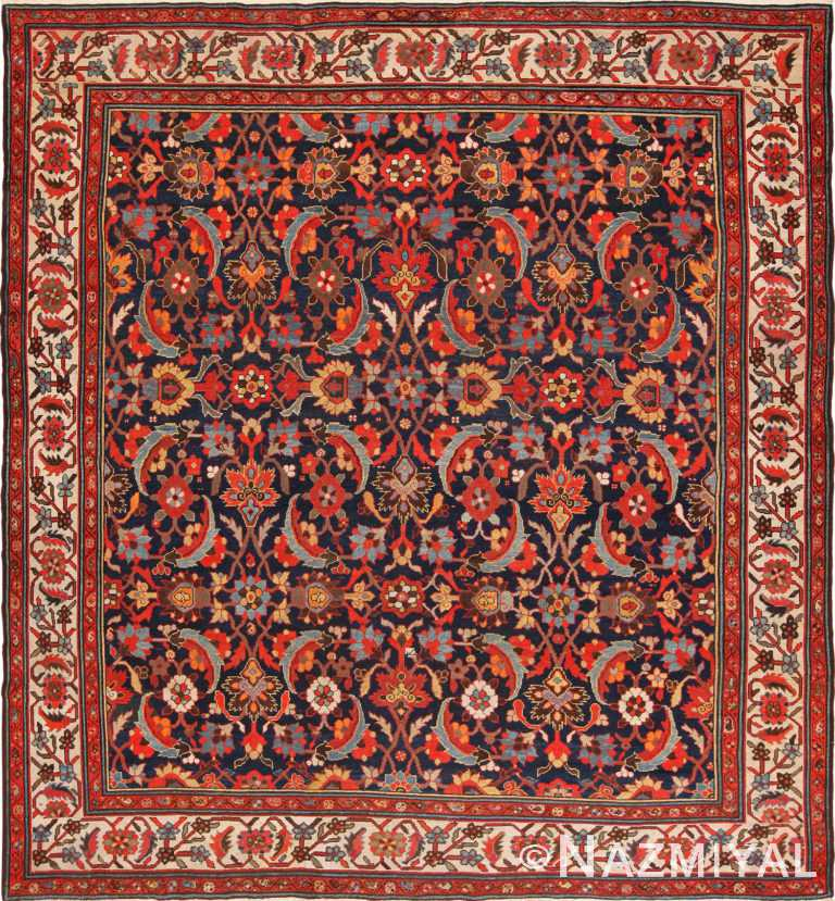 Full view antique Persian Malayer rug 70202 by Nazmiyal