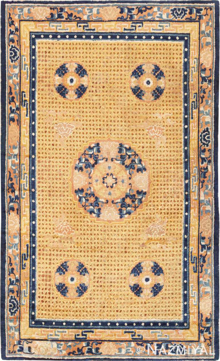 Antique 18th Century Chinese Ningxia Rug #70129 from Nazmiyal Antique Rugs in NYC