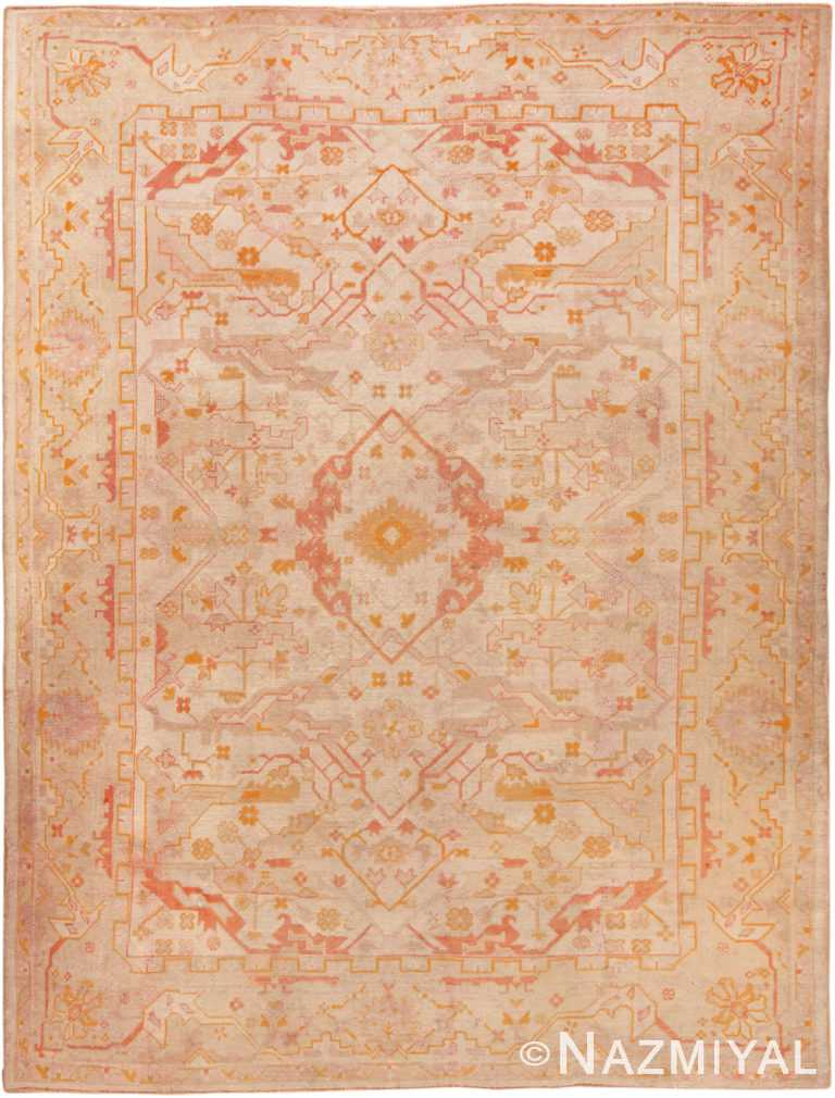 Antique Turkish Oushak Rug 70220 from Nazmiyal Antique Rugs in NYC