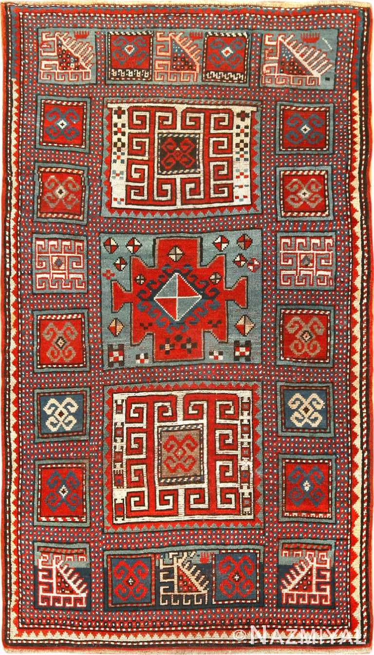 Antique Caucasian Kazak Rug 70142 by Nazmiyal NYC