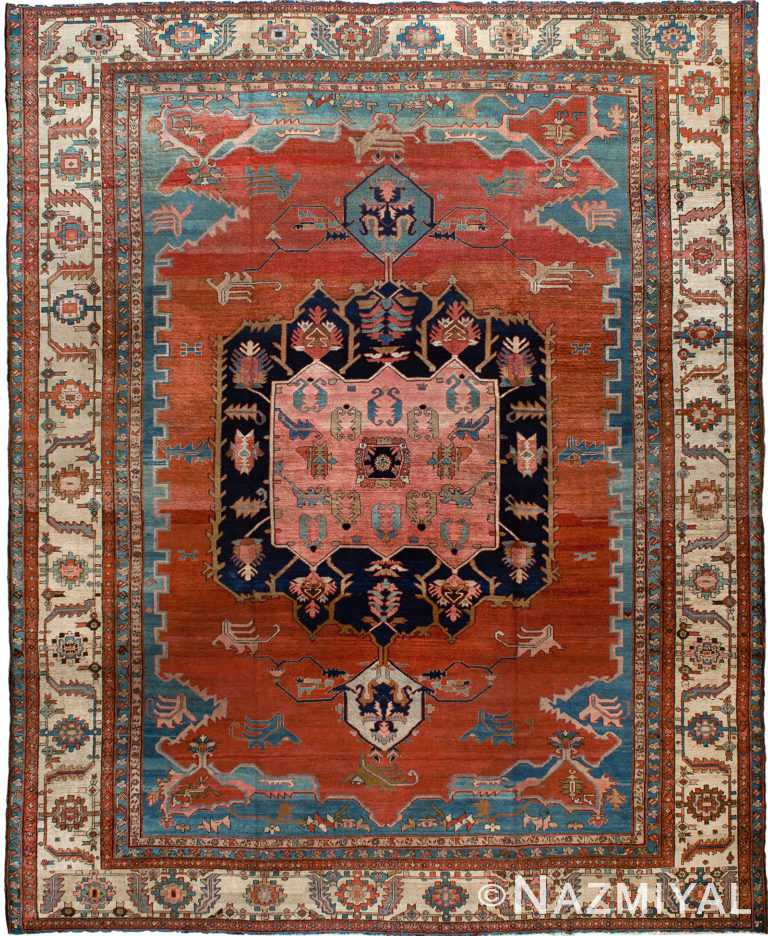 Antique Persian Heriz Rug by Nazmiyal