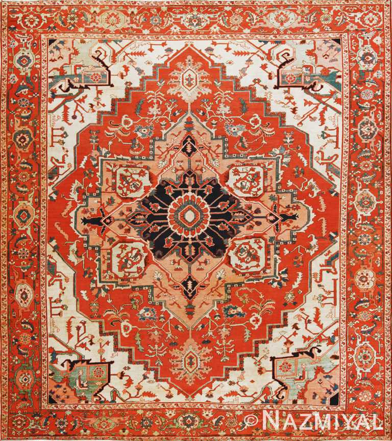 Antique Persian Serapi Rug 70297 by Nazmiyal NYC