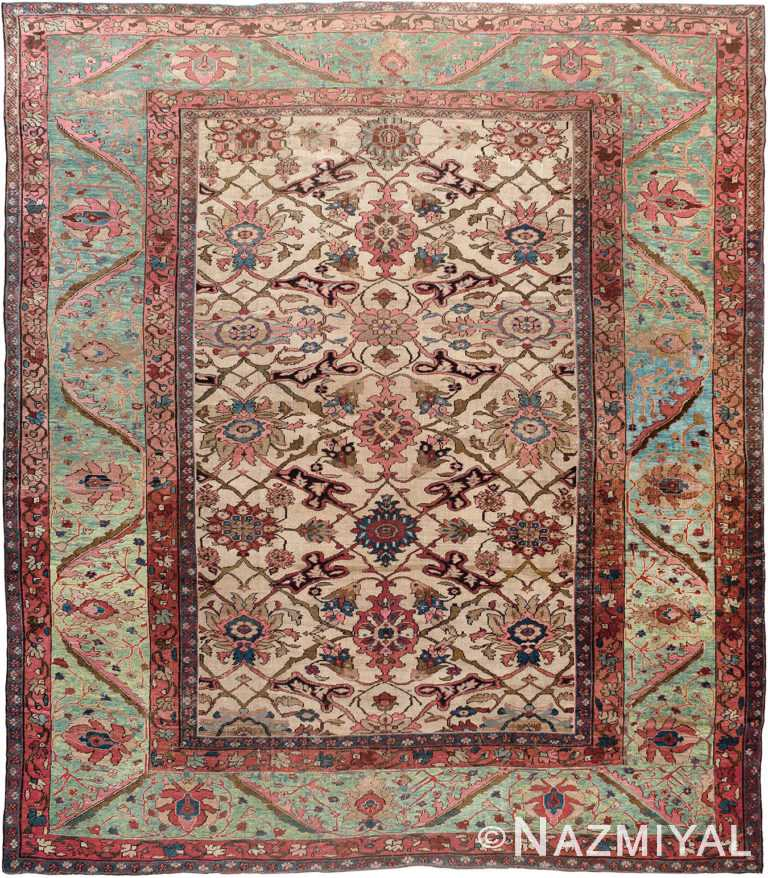 Antique Persian Sultanabad Rug 90012 by Nazmiyal Antique Rugs