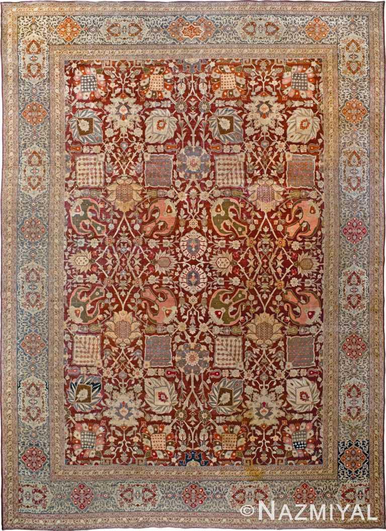 Antique Persian Tabriz Rug by Nazmiyal