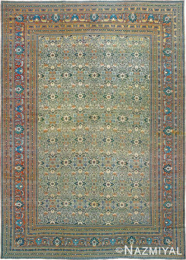 Antique Persian Tabriz Rug Namiyal