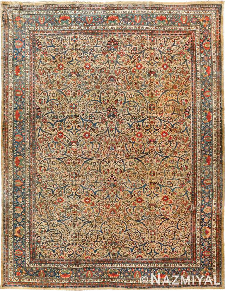 Fine Antique Room Size Persian Tabriz Area Rug #90032 by Nazmiyal Antique Rugs