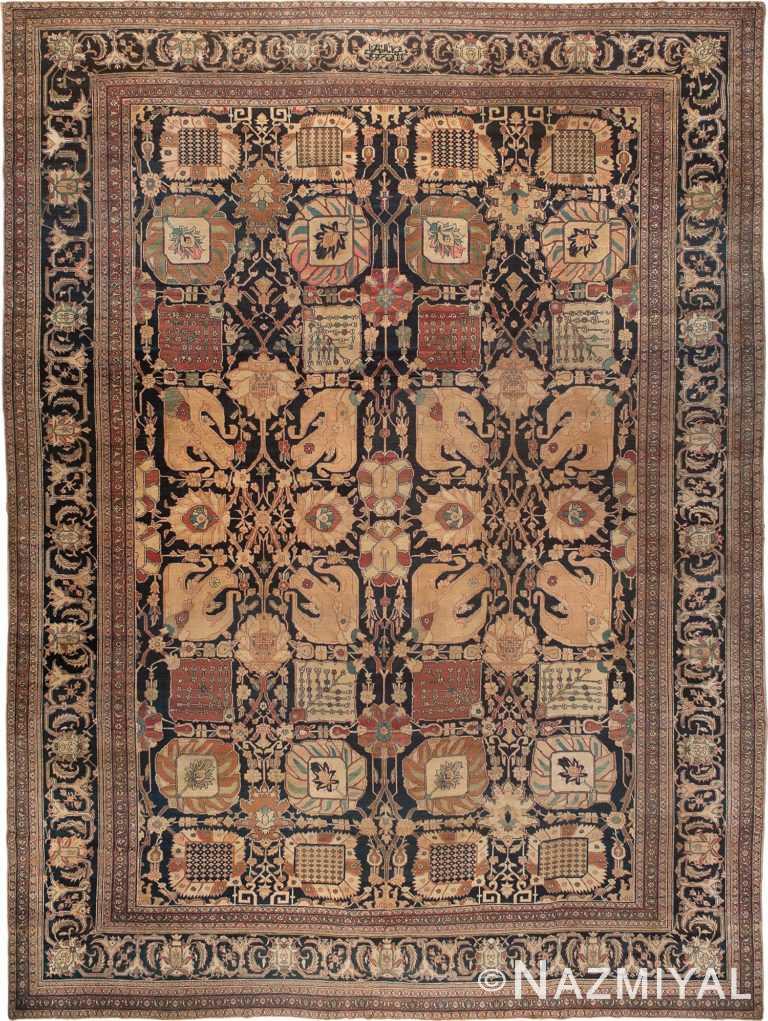 Antique Tabriz Persian Rug Nazmiyal