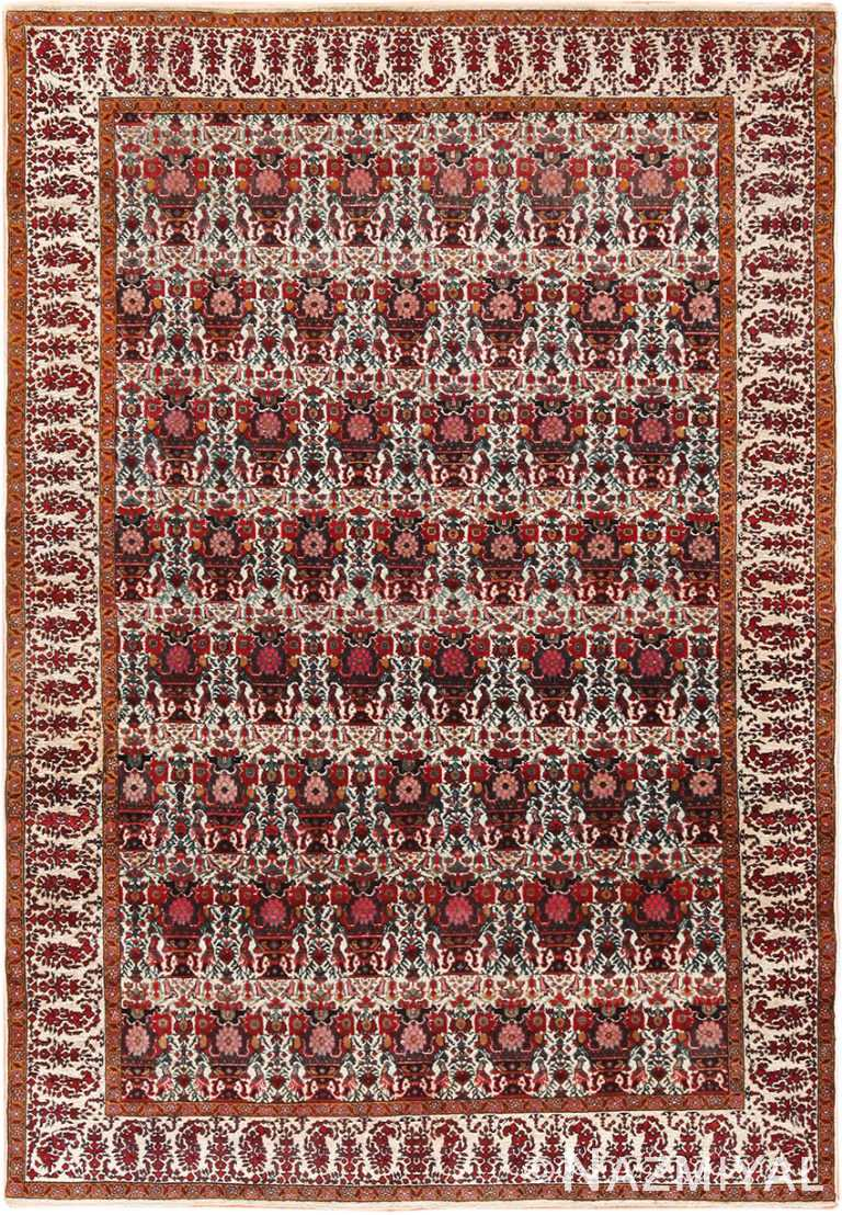 Antique Silk And Wool Persian Rug 44916 by Nazmiyal NYC